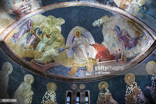 st savior in chora church, iistanbul,turkey - kariye museum stock pictures, royalty-free photos & images
