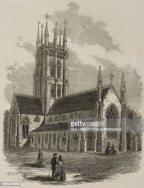 St Saviour's Church Clapham London United Kingdom illustration from the magazine The Illustrated London News volume XLV November 26 1864