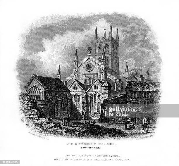 St Saviours Church Southwark London 1829 Mainly built between 1220 and 1420 this church became the cathedral of the diocese of Southwark when it was...