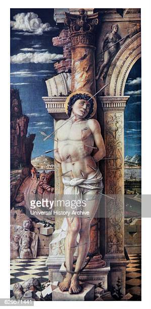 St Sebastian 1470 by the Italian Early Renaissance master Andrea Mantegna Sebastian was considered protector against the plague as having been shot...
