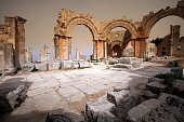 St. Simeon's pillar before the Russian airstrike, Syria.