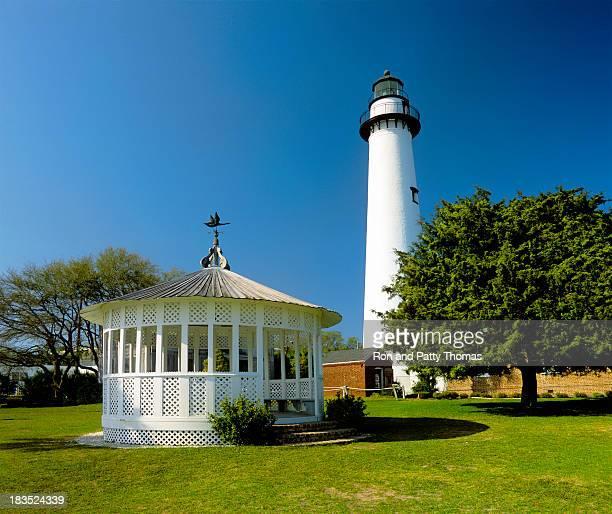 st. simons island lighthouse - saint simon's island stock pictures, royalty-free photos & images