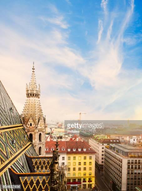 cathédrale saint-étienne à vienne, en autriche - autriche photos et images de collection