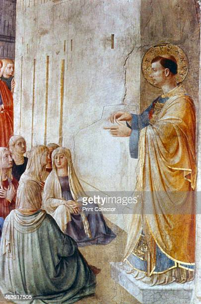 'St Stephen Preaching' mid 15th century St Stephen a deacon of the early Christian church in Jerusalem was found guilty of blasphemy by the Sanhedrin...