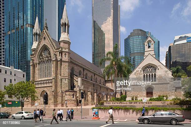 st. stephen's cathedral and st. stephen's church in brisbane - brisbane stock pictures, royalty-free photos & images