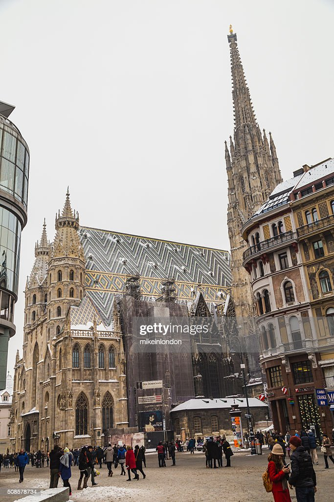 St. Stephen's Cathedral (Stephansdom in the Winter) : Stockfoto