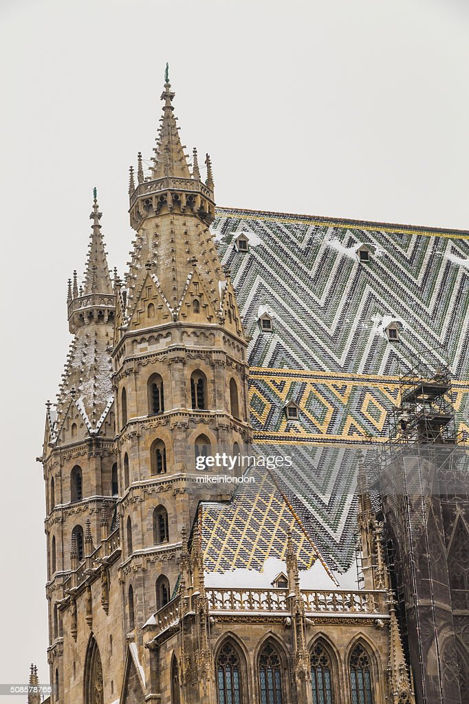 St. Stephen's Cathedral (Stephansdom in the Winter) : Stock Photo