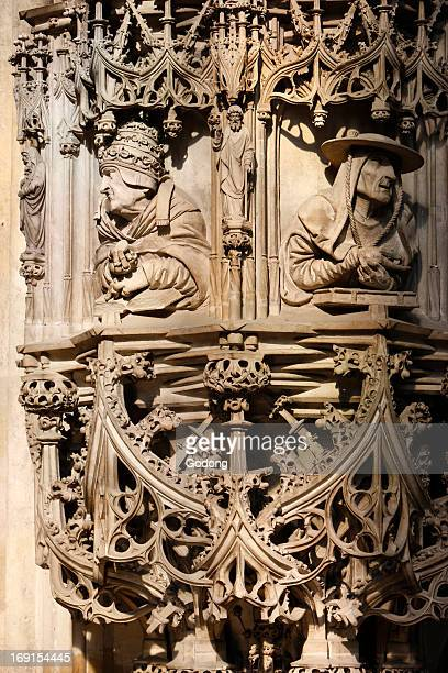 St Stephen's Cathedral The stone pulpit a masterwork of late gothic sculpture