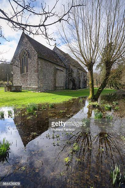 st swithun's church - winchester hampshire stock photos and pictures