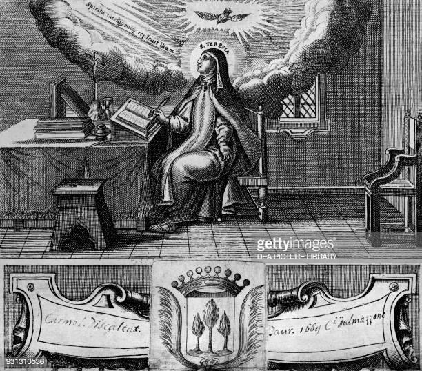 St Teresa of Avila engraving 1669