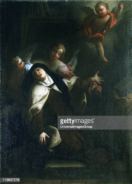 St Teresa of Avila Spanish mystic and saint who reformed Carmellite order Artist Thomas Blanchet French historical painter