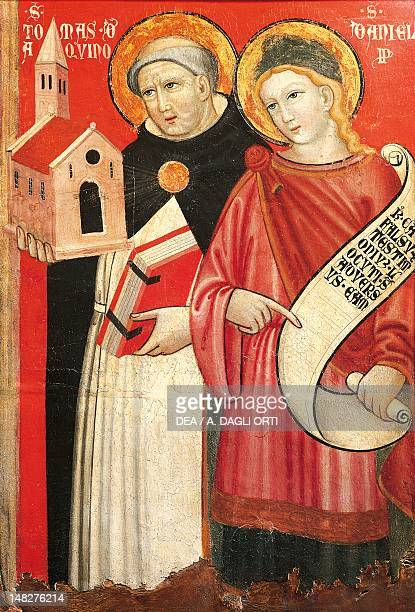 St Thomas Aquinas and St Daniel by an unknown painter Detail Cividale Del Friuli Museo Archeologico Nazionale