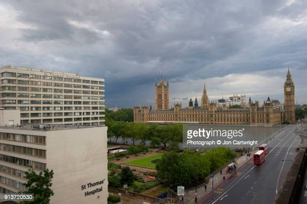 St Thomas' Hospital and the Houses of Parliament