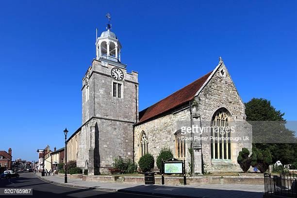 st thomas parish church, lymington town - lymington fotografías e imágenes de stock
