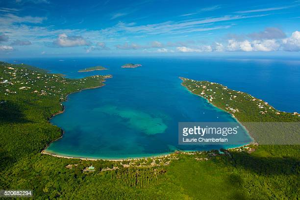 st. thomas, us virgin islands - magens bay stock photos and pictures
