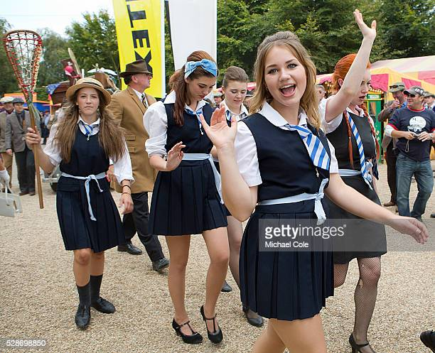 St Trinians girls at the Goodwood Revival Meeting 14th Sept 2014