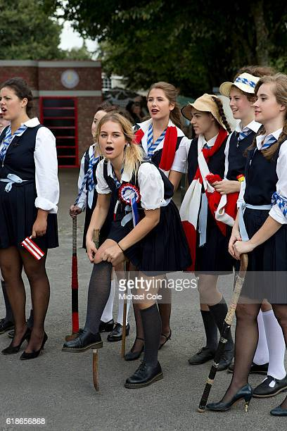 St Trinians Schoolgirls at Goodwood on September 9 2016 in Chichester England