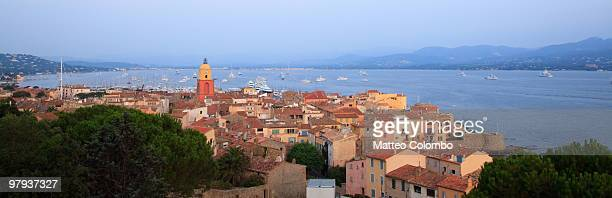 st. tropez panorama - st tropez stock pictures, royalty-free photos & images