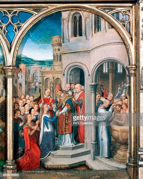'St Ursula Shrine Arrival in Rome' 1489 The Reliquary of St Ursula Memling Museum SintJanshospitaal Bruges