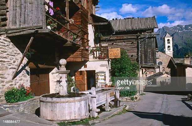 St Veran main stree, Le Queyras near Bordeaux.