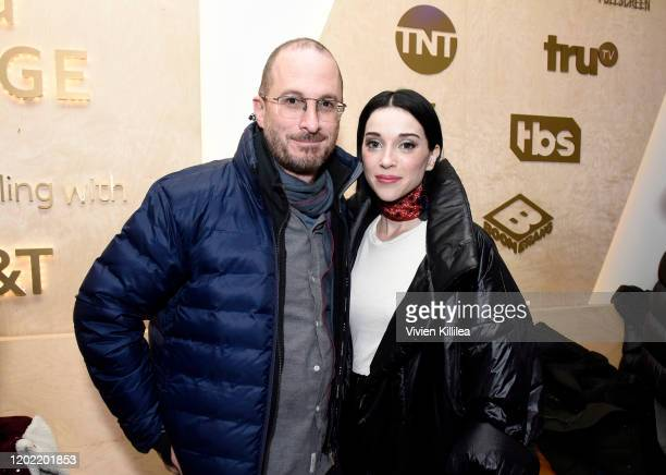 """St. Vincent and Darren Aronofsky stop by """"The Nowhere Inn"""" Premiere Party at WarnerMedia Lodge: Elevating Storytelling with AT&T presented by Topic..."""