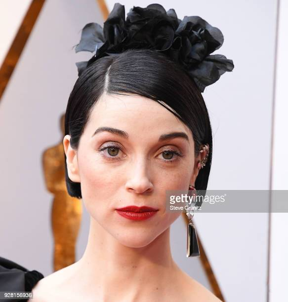 St Vincent arrives at the 90th Annual Academy Awards at Hollywood Highland Center on March 4 2018 in Hollywood California