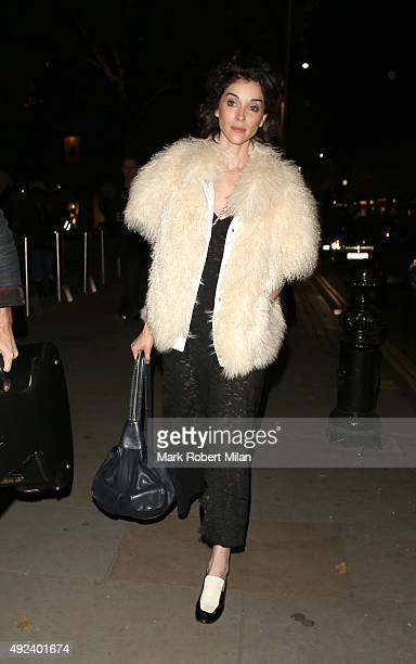 St Vincent attending the Chanel Exhibition Party at the Saatchi Gallery on October 12 2015 in London England