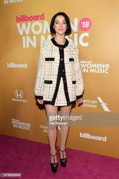St Vincent attends Billboard's 13th Annual Women in Music Event at Pier 36 on December 06 2018 in New York City