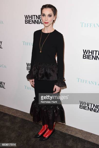 St Vincent attends the 2017 Whitney Biennial presented by Tiffany Co at The Whitney Museum of American Art on March 15 2017 in New York City