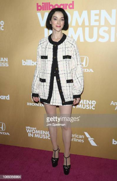 St Vincent attends the Billboard's 13th Annual Women in Music event at Pier 36 on December 6 2018 in New York City