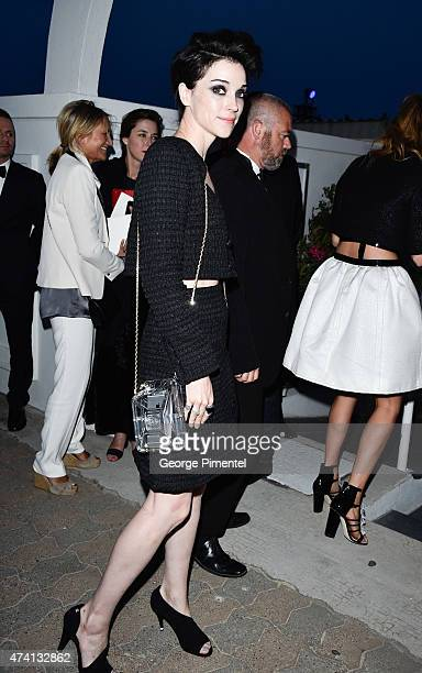 St Vincent attends the Chanel Vanity Fair party during the 68th annual Cannes Film Festival on May 20 2015 in Cannes France