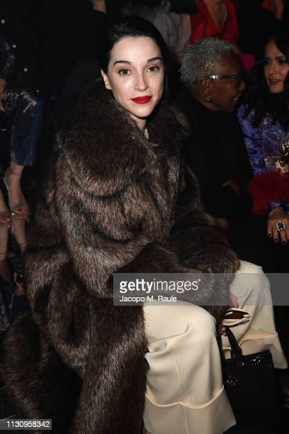 St Vincent attends the Gucci show during Milan Fashion Week Autumn/Winter 2019/20 on February 20 2019 in Milan Italy
