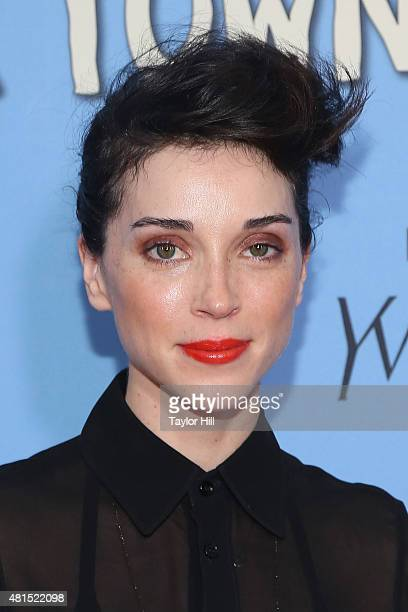 St Vincent attends the New York City premiere of 'Paper Towns' at AMC Loews Lincoln Square on July 21 2015 in New York City