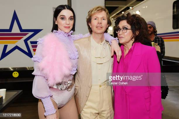 St Vincent Beck and Wendy Melvoin attend the 62nd Annual GRAMMY Awards Let's Go Crazy The GRAMMY Salute To Prince on January 28 2020 in Los Angeles...