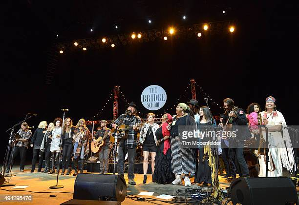 St Vincent Emily Robison Natalie Maines Sheryl Crow Neil Young Natalie Maines Gary Clark Jr and Micah Nelson perform during the 29th Annual Bridge...