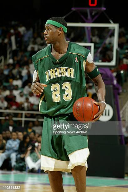 St Vincent High School LeBron James against RJ Reynolds High School at the Greensboro Coliseum in Greensboro NC on Jan 15 2003