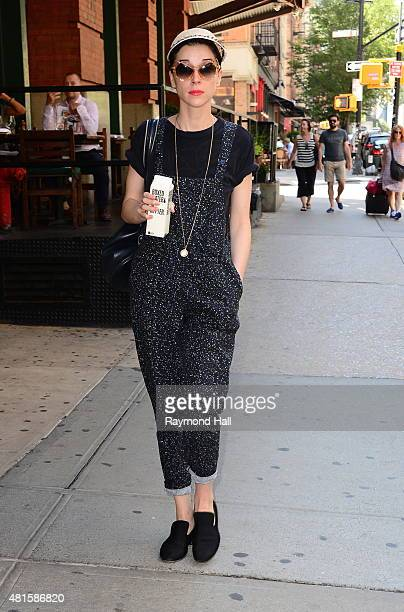 St Vincent is seen walking in Soho on July 22 2015 in New York City