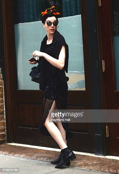 St Vincent is seen walking in Soho on June 9 2015 in New York City