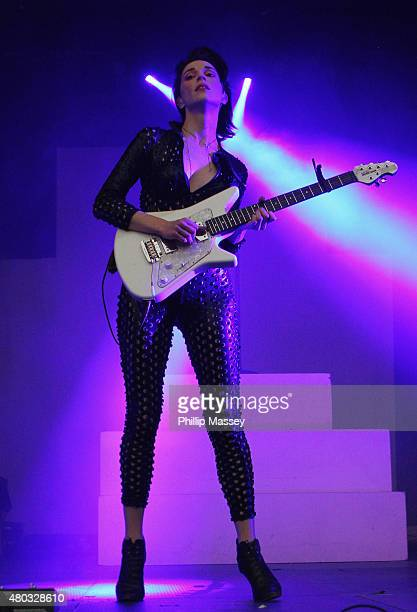 St Vincent performs at Iveagh Gardens on July 10 2015 in Dublin Ireland