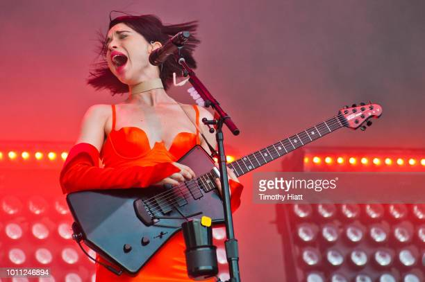 St Vincent performs at Lollapalooza at Grant Park on August 4 2018 in Chicago Illinois