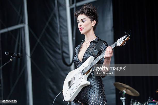 St Vincent performs at Outside Lands Music Arts Festival at Golden Gate Park on August 7 2015 in San Francisco California