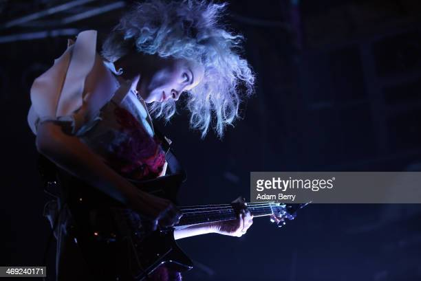 St Vincent performs at Postbahnhof on February 13 2014 in Berlin Germany