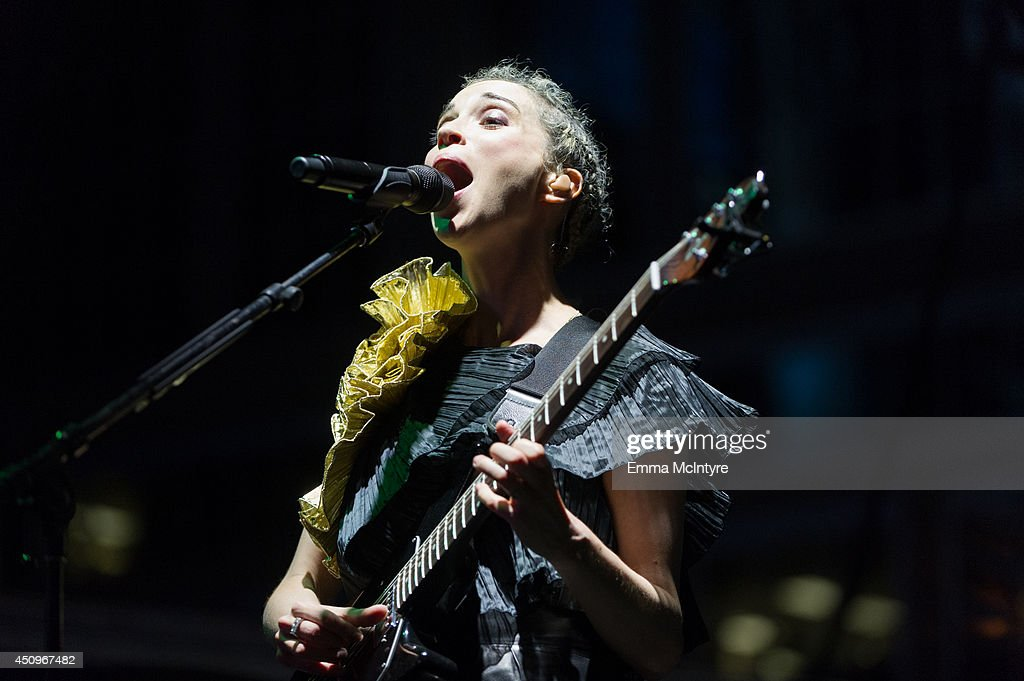St. Vincent performs at the 2014 NXNE music festival at Yonge-Dundas Square on June 20, 2014 in Toronto, Canada.