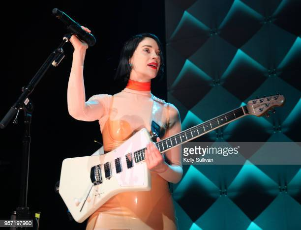 St Vincent performs at the WeWork San Francisco Creator Awards at Palace of Fine Arts on May 10 2018 in San Francisco California