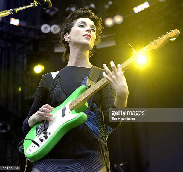 St Vincent performs during the 2015 Sasquatch Music Festival at The Gorge on May 24 2015 in George Washington