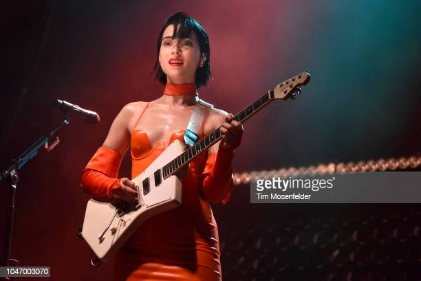 St Vincent performs during the 2018 Austin City Limits Music Festival at Zilker Park on October 6 2018 in Austin Texas