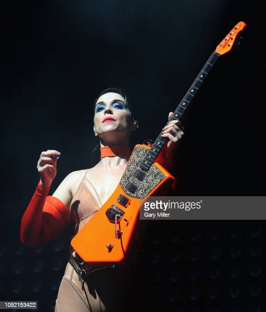 AUSTIN TX October 14 St Vincent performs in concert on the final day of ACL Music Festival at Zilker Park on October 14 2018 in Austin Texas