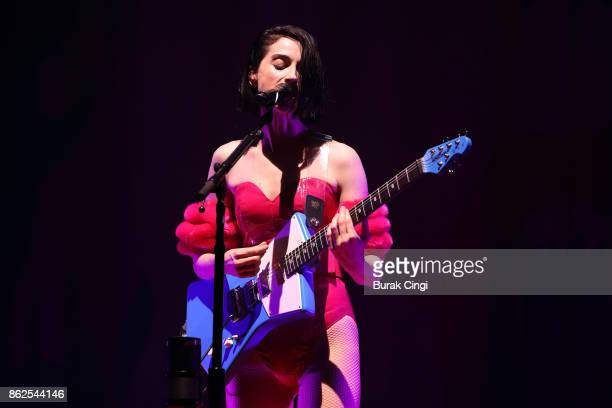 St. Vincent performs live on stage at Brixton Academy on October 17, 2017 in London, England.