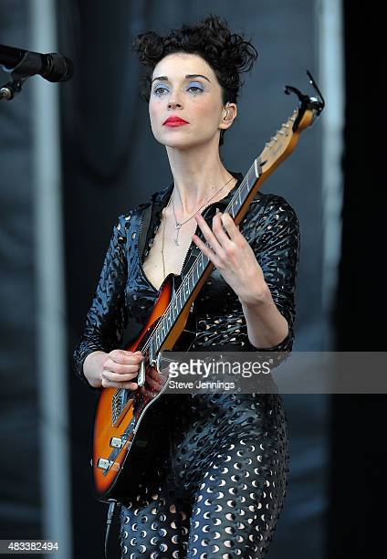 St Vincent performs on Day 1 of the 8th Annual Outside Lands Festival at Golden Gate Park on August 7 2015 in San Francisco California
