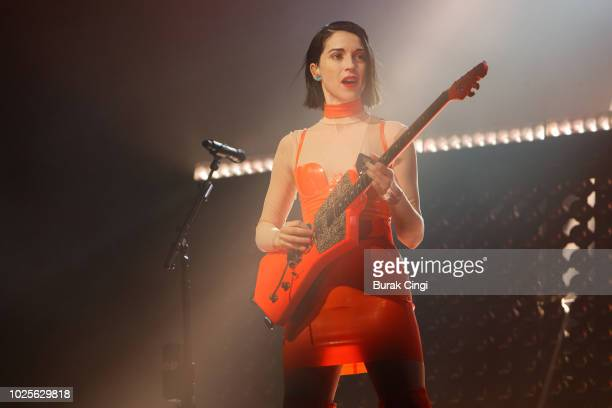 St Vincent performs on day 2 of End Of The Road Festival at Larmer Tree Gardens on August 31, 2018 in Farnham, Dorset.